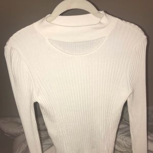 Cream colored express sweater top.
